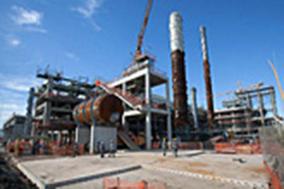 Fabricación de Horno de crudo, serpentines, conductos, estructuras y chimenea para Refinería